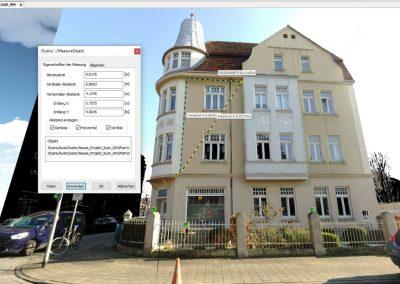 Gebäudevermesssung Digital – Häuserfassade Kreuzviertel