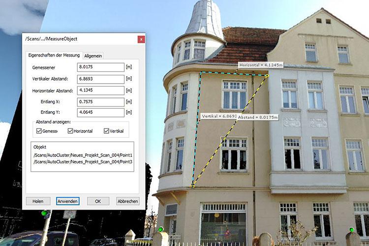 Vermessung einer Fassade in CAD Programmen