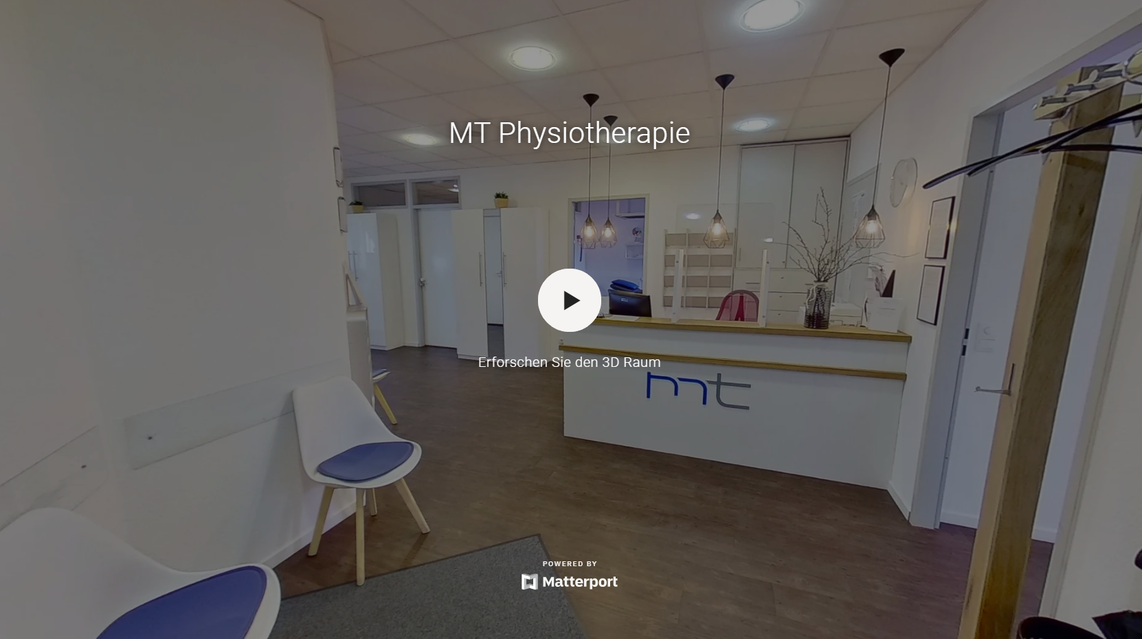 Virtueller 360° Rundgang einer Praxis für Physiotherapie