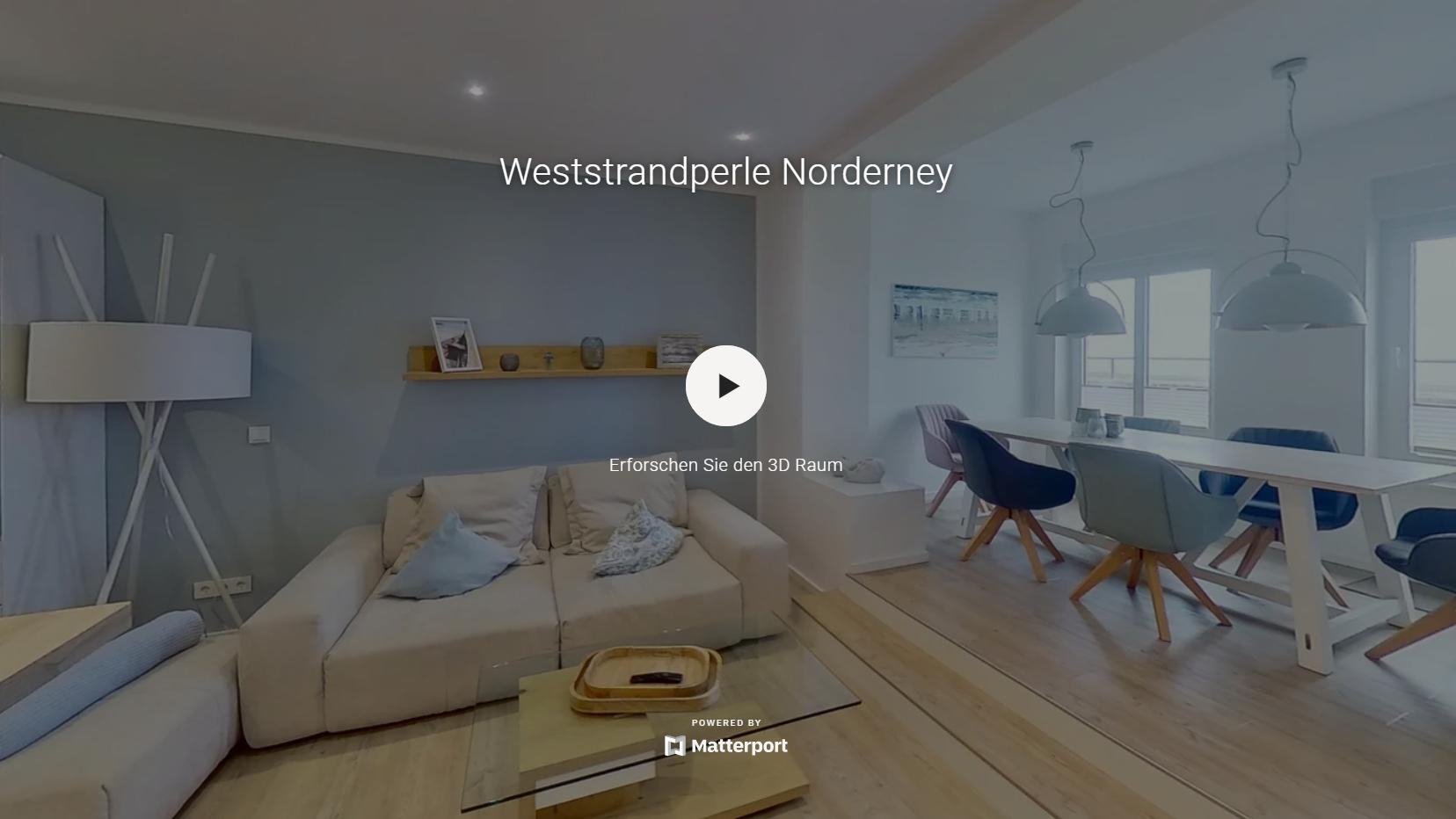 Virtueller 360° Rundgang eines Hotels auf Norderney